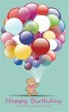 Verjaardagskaart Royalty-vrije Illustratie