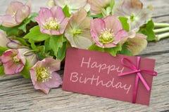 Verjaardagskaart Royalty-vrije Stock Afbeeldingen