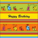 Verjaardagskaart Stock Afbeeldingen