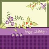 Verjaardagskaart Royalty-vrije Stock Afbeelding