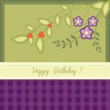 Verjaardagskaart Royalty-vrije Stock Foto's