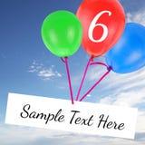 Verjaardagskaart met exemplaar-ruimte Stock Fotografie