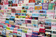 Verjaardagskaarten Stock Foto