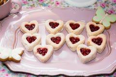 Verjaardagslijst met snoepjes voor kinderenpartij Stock Foto