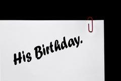 Verjaardagsmemorandum & Herinnering! Verhoudingen. stock foto's
