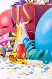 Verjaardagspartij met een gift of een huidige doos Royalty-vrije Stock Afbeeldingen