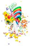 Verjaardagsregeling op wit royalty-vrije stock foto's