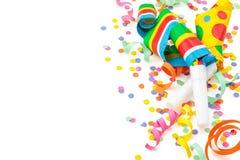 Verjaardagsregeling op wit royalty-vrije stock afbeelding