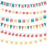 Verjaardagsslingers Royalty-vrije Stock Afbeelding