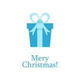 Verjaardagsvakantie, Kerstmisgroet en uitnodigingskaart Illustratie Gift in een doos Modern vlak ontwerp Royalty-vrije Stock Afbeeldingen