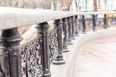 Verjas adornadas del hierro labrado Fotografía de archivo libre de regalías