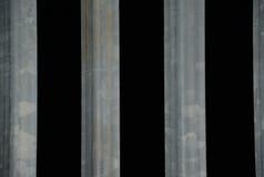 Verjas del hierro en la noche Fotos de archivo