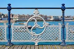 Verjas victorianas del embarcadero, Swanage Foto de archivo libre de regalías