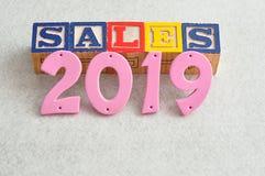 Verkäufe 2019 Lizenzfreie Stockbilder