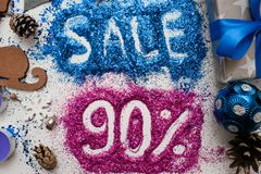Verkäufe auf Weihnachten und Neujahrsfeiertagen Lizenzfreies Stockfoto