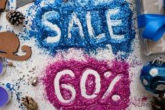 Verkäufe auf Weihnachten und Neujahrsfeiertagen Lizenzfreie Stockfotografie