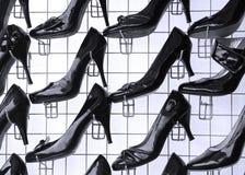 Verkäufe der modernen Fußbekleidung stockbild
