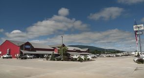 Verkäufe Jamatt RV, kampierende Welt, Poteau, Oklahoma lizenzfreie stockfotografie