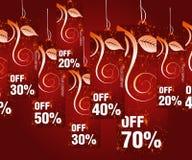 Verkäufe und Rabattkonzept vektor abbildung