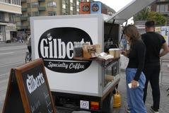 VERKÄUFER GILBERTS COFFE Lizenzfreies Stockfoto
