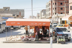 Verkäufer in Kairouan Lizenzfreies Stockbild