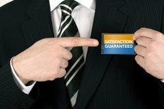 Verkäufer mit einer Garantie Lizenzfreie Stockfotos