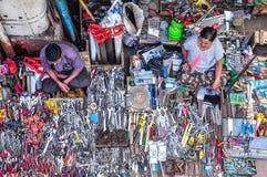 Verkäufer in Rangun, Myanmar Birma Stockfotografie