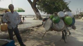 Verkäufer, Straße, Kambodscha, Südostasien stock video footage