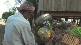 Verkäufer, Straße, Kambodscha, Südostasien stock video