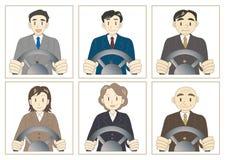 Verkäufer- und Geschäftsmannfahrer lizenzfreie abbildung