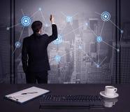 Verkäuferzeichnungsstrategie bei der Bürositzung Lizenzfreie Stockfotos