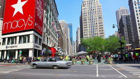 Verkünder-Quadrat in New York City stock footage