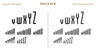 Verk?rzter mutiger GROTESK-Guss, eckig Vektor vektor abbildung