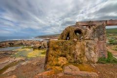Verkalkt waterwiel en aquaduct Royalty-vrije Stock Fotografie