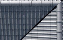 Överkant för design för taktegelplattor Arkivbild