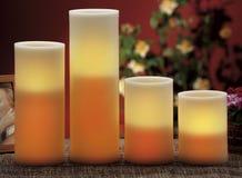 Verkarelektriska stearinljus för normala stearinljus Arkivbilder