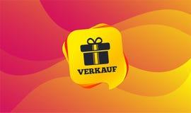 Verkauf - продажа в немецком значке знака подарок вектор иллюстрация штока