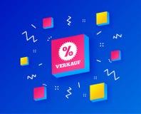 Verkauf - продажа в немецком значке знака звезда вектор бесплатная иллюстрация