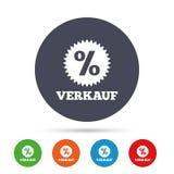 Verkauf - продажа в немецком значке знака звезда иллюстрация вектора
