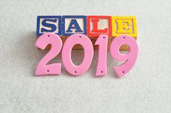 Verkauf 2019 Stockfoto