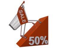 Verkauf 50% Stockbild