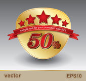 Verkauf 50 Vektor Abbildung