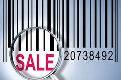 Verkauf auf Barcode Lizenzfreie Stockfotografie