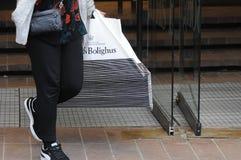 50% Verkauf auf Texteinzelteilen nach Feuer an illum boligus Stockfotos