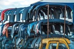 Verkauf benutzte Teile für Autos Stockbild