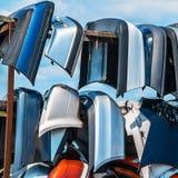 Verkauf benutzte Teile für Autos Stockfotos