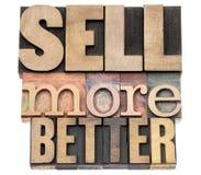 Verkauf besser in der hölzernen Art lizenzfreie stockfotografie