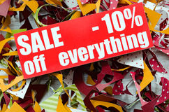 Verkauf bis 10 Prozent Lizenzfreies Stockfoto