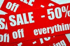 Verkauf bis 50 Prozent Stockbilder