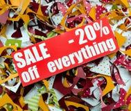 Verkauf bis 20 Prozent Stockbild